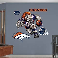 Buy Denver Broncos Die Cut RB Liquid Blue Fathead Wall Graphic by get wall decals