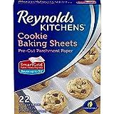 Reynolds Kitchens Cookie Baking Sheets Parchment Paper (SmartGrid, Non-Stick, 22 Sheets)