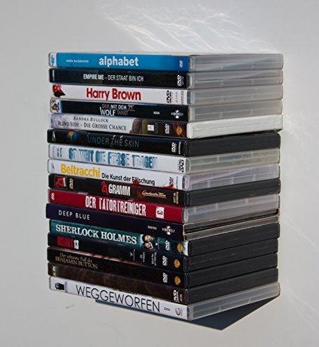 3x-DVD-Blueray-Turm-Regal-unsichtbar-schwebend-Clever-Arbeitszimmer-Gadget-pure