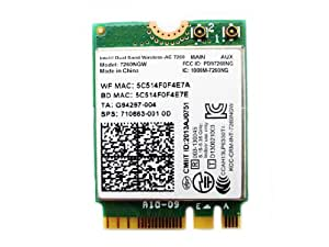 Intel Dual Band Wireless-AC 7260 867 Mbps+ Bluetooth 4.0 7260NGW