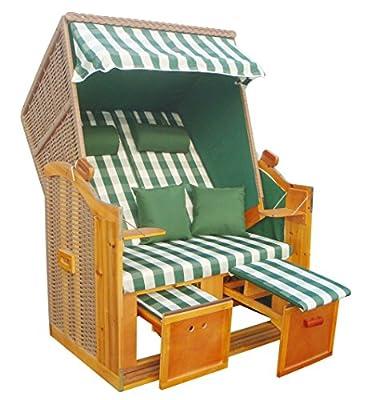 WOHNWERK! Zweisitzer Strandkorb Nordsee de Luxe Grün II Nur diesen Monat inkl. Schutzhülle in dunkel grün! von das wohnwerk GmbH bei Gartenmöbel von Du und Dein Garten