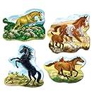 Horse Cutouts Party Accessory (1 count) (4/Pkg)