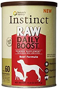 Instinct Raw Daily Boost Beef Supplement Powder by Nature's Variety, 11-Ounce Canister