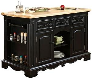amazon com powell pennfield kitchen island furniture amp decor