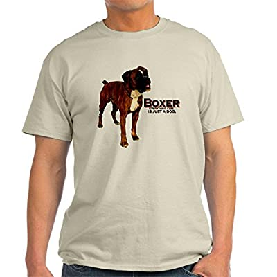 CafePress Unique Tee Boxer Dog Light T-Shirt - XL Natural [Apparel]