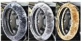 griffiger Lammfell Lenkradbezug Lenkradhülle mit Farbauswahl universal passend