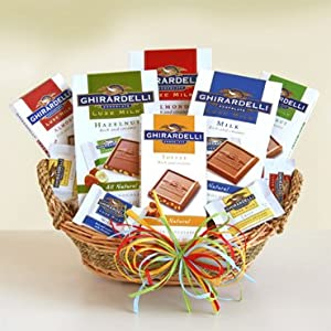 Luxe Ghirardelli Chocolate Gift Basket Mothers Day Gift Basket Fathers Day Gift Idea