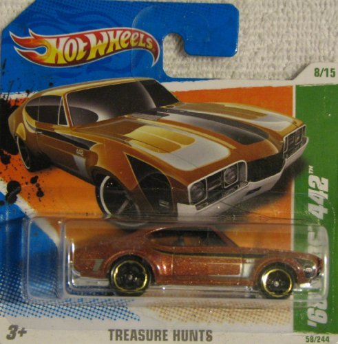 Hot Wheels 2011-058 Treasure Hunts '68 Olds 442 COPPER 1:64 Scale SHORT CARD - 1