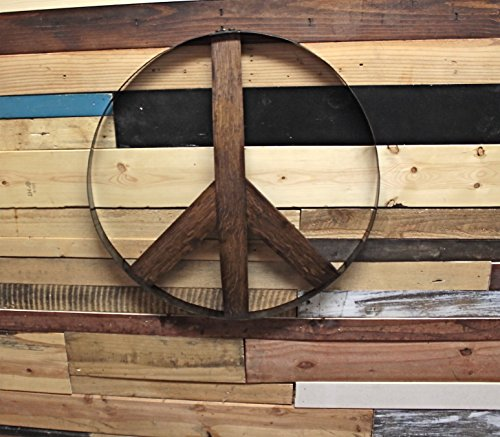 Rustic Whiskey and Wine Barrel Peace Sign (Wine Barrel Wall Decor compare prices)