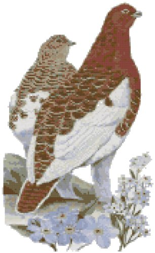 Alaska State Symbol Counted Cross Stitch Pattern