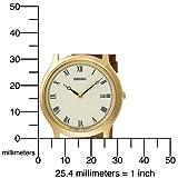 Seiko Men's SKP332 Dress Brown Leather Strap Watch