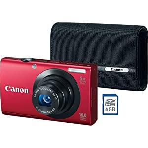 Canon PowerShot A3400 IS Digital Camera Bundle