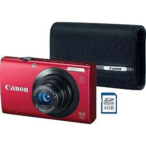 Canon PowerShot A3400 IS Digital Camera Bundle