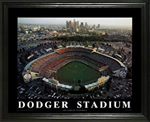 Los Angeles Dodgers - Dodger Stadium Aerial - Lg - Framed Poster Print by Laminated Visuals