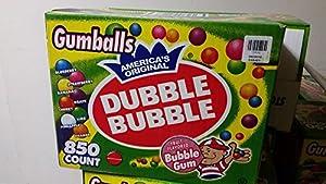 "Dubble Bubble-Gumballs 1"" in Diameter Variety Pack, 850 Gumballs"