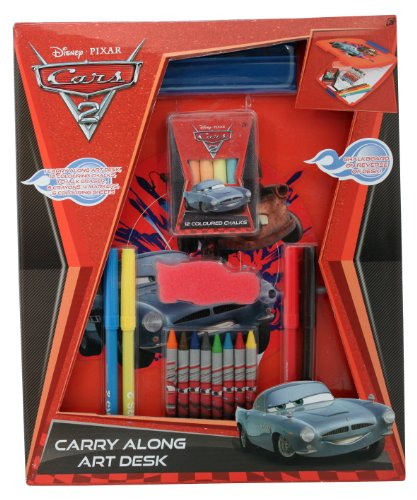 Disney Cars 2 Carry Along Art Desk Toys Kids