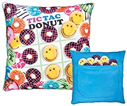 iscream \'Slumber Party Games\' Tic Tac Donut Activity Game Pillow