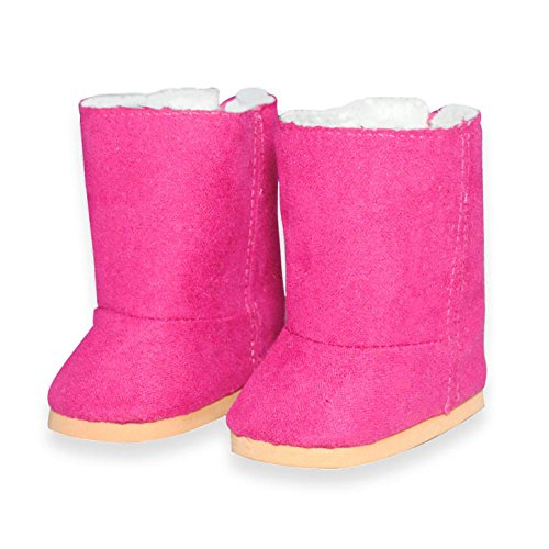 Doll Shoes - Snow Pink Boots Shoes Fits American Girl Dolls, Madame Alexander And Other 18 Inches Dolls