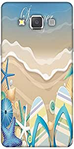 Snoogg Summer Holiday Designer Protective Back Case Cover For Samsung Galaxy A7