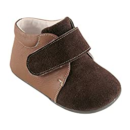 Hudson Baby Boy\'s Leather and Suede Boots, Brown, 0-6 Months