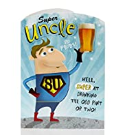 Uncle Superman Birthday Card
