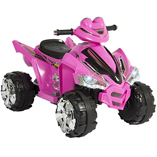 Best Choice Products Pink Kids Ride On ATV Quad 4 Wheeler 12V Battery Electric Power Led Lights Music (4 Wheeler Battery compare prices)