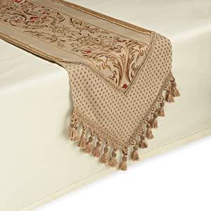 Claudio 108 inch in gold table runner for 108 inch table runners