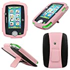 Evecase LeapPad 3 Case, Kid-Friendly Leather Case with Built-in Stand for LeapFrog LeapPad3 Kids' Learning Tablet (2014 Edition) - Pink