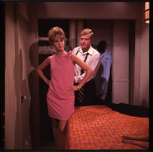Barefoot in the Park 2 1/4 transparency Jane Fonda Robert Redford in apartment