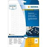 Herma 5116 Étiquettes de bijouterie opaques 49 x 10 A4 Blanc