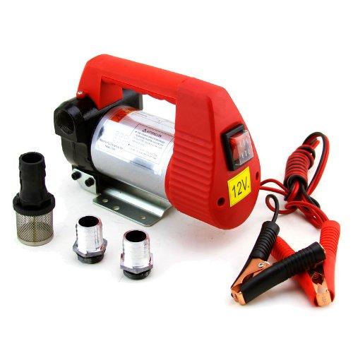 Xtremepowerus 12V 10.6 Gpm Oil, Diesel, Biodiesel And Kerosene Transfer Self-Priming Pump