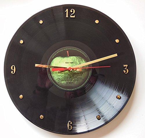 "Record Clock - The Beatles (Abbey Road). Handmade 12"" wall clock made with the original Beatles record."