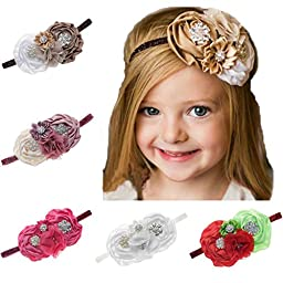 Rosebelles Infant Toddlers Baby Headbands Newborn Girls Hair Accessories 5 Colors