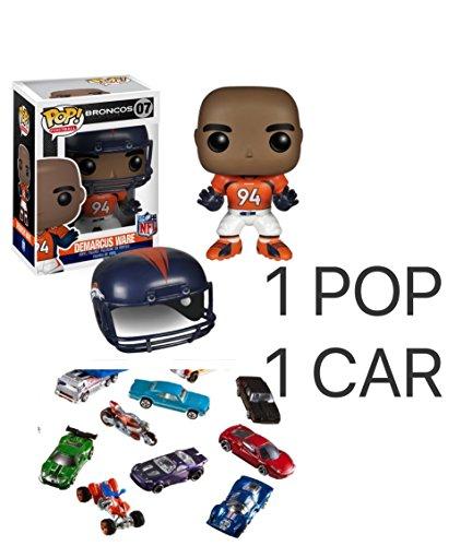 Funko POP NFL: Wave 1 - Demarcus Ware Action Figures Toy Action Figures Plus 1 Diecast model Metal cars Random - 1 POP 1 Diecast Model Metal Cars Random. Best Gift Bundle