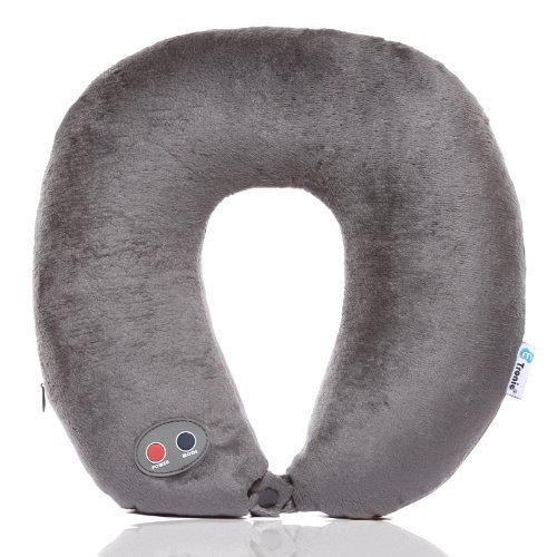 Etronic Ultra Comfort Massage Travel Neck Pillow ET-105 - 6 Massage Modes - Headrest Strap - CE Certified [3-Year Warranty]