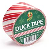 Duck Brand 280735 Candy Cane Printed Duct Tape, 1.88-Inch by 10 Yards, Single Roll