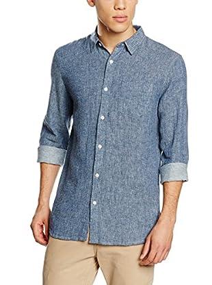 New Look Camisa Hombre (Azul)