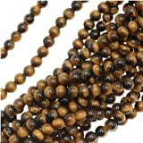 Tiger Tigers Eye Gem Round 6-6.5mm Beads/15.5 (Brown & Gold) ~ UnCommon Artistry
