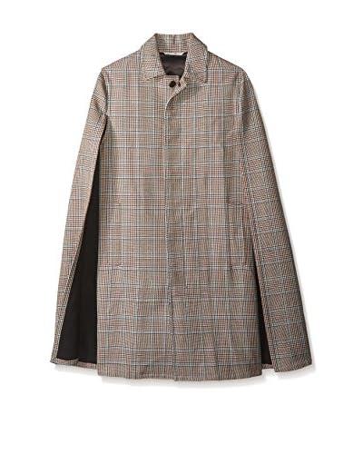 Valentino Garavani Men's Glen Plaid Coat with Cape