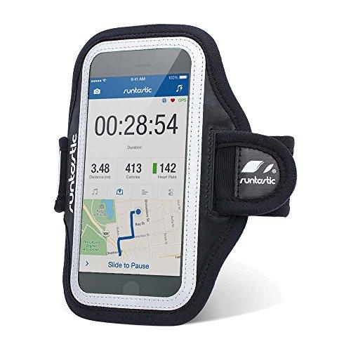 Runtastic Sports Armband 3.0 Fascia Contenitore Braccio in Neoprene per iPhone: 4/4S/5/5S/5C/6 e Samsung Galaxy S3/S4/S5 e Versioni più Recenti, Dimensione Smartphone: 7.2 x 14.2 x 1 cm, Nero