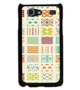 ifasho Animated Pattern colrful tribal design Back Case Cover for Samsung Galaxy S Advance i9070
