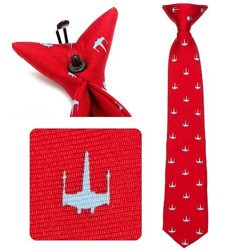 Star Wars 100% Silk Red X Wing Boys Pre-Tie Clip On Necktie Neck Tie Neckwear