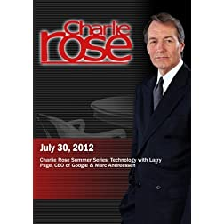 Charlie Rose - Charlie Rose Summer Series: Technology (July 30, 2012)