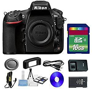 Value Kit for D810 DSLR Camera + 16 GB SDHC Memory Card + Camera Cap + Nikon Strap + 6 PC Starter Kit