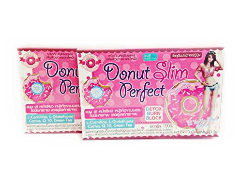 3X Donut Slim Perfect Detox Burn Block +L- Glutathione & Green Tea