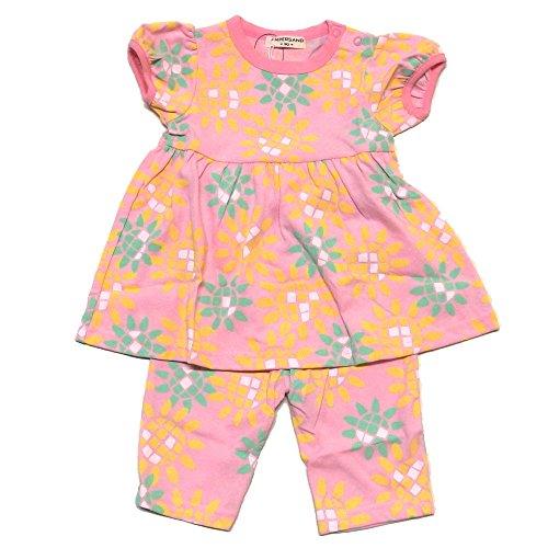 (アンパサンド) AMPERSAND Girl's半袖パジャマ 130 ピンク
