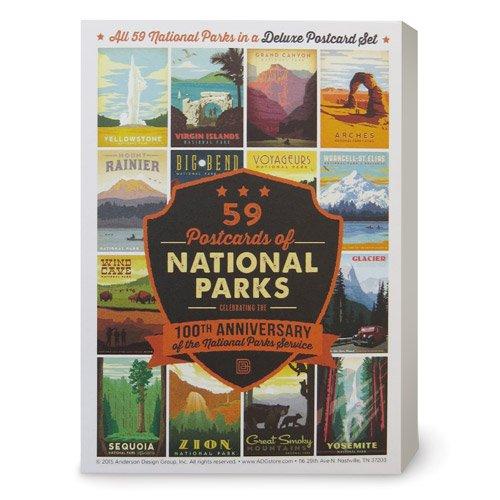 59-piece Deluxe National Parks Postcard Set