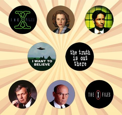 the-x-files-set-of-8-1-inch-pinback-buttons