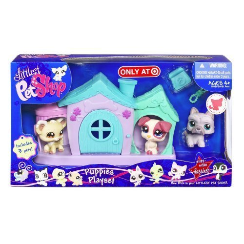 Littlest Pet Shop Puppies Mini Playset With 3 Exclusive Pets front-12248