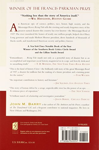 an analysis of the impact of the mississippi river by john m barry Lessons from the great flood of 1927 rising tide: the great mississippi flood and how it changed america by john m barry by shannon jones 27 january 2006.